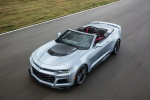 2018 Chevrolet Camaro ZL1 Convertible in Arctic Blue Metallic - Driving Front Left Three-quarter Top View