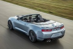 2018 Chevrolet Camaro ZL1 Convertible in Arctic Blue Metallic - Driving Rear Left Three-quarter Top View