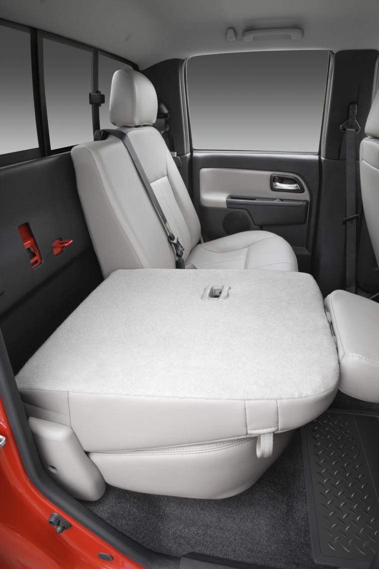 2012 Chevrolet Colorado Crew Cab Rear Seats Folded Picture