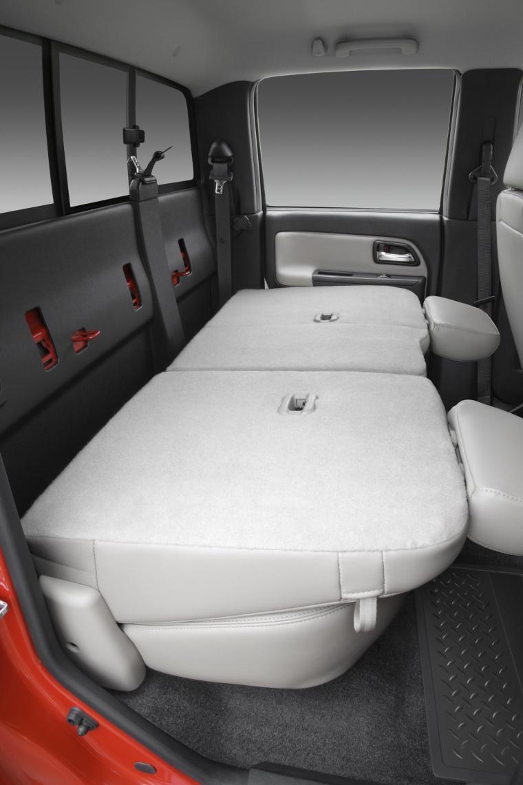 2012 Chevrolet Colorado Crew Cab Rear Seats Folded Picture