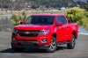 2015 Chevrolet Colorado Crew Cab in Red Hot from a front left view
