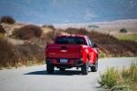 2015 Chevrolet Colorado Crew Cab in Red Hot - Driving Rear Right View