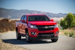 2015 Chevrolet Colorado Crew Cab in Red Hot - Driving Front Right View