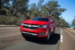 2015 Chevrolet Colorado Crew Cab in Red Hot - Driving Front Left View