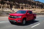 2015 Chevrolet Colorado Crew Cab in Red Hot - Driving Front Left Three-quarter View