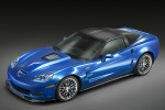 2011 Chevrolet Corvette ZR1 in Jetstream Blue Metallic Tintcoat - Static Front Left Three-quarter Top View