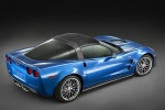 2011 Chevrolet Corvette ZR1 in Jetstream Blue Metallic Tintcoat - Static Rear Right Three-quarter Top View