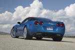 2011 Chevrolet Corvette ZR1 in Jetstream Blue Metallic Tintcoat - Static Rear Left View