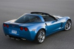 2011 Chevrolet Corvette Grand Sport Coupe in Jetstream Blue Metallic Tintcoat - Static Rear Right Three-quarter View