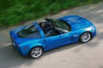 2011 Chevrolet Corvette Grand Sport Coupe in Jetstream Blue Metallic Tintcoat - Driving Rear Right Three-quarter Top View