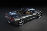 2014 Chevrolet Corvette Stingray Convertible in Cyber Gray Metallic - Static Rear Right Three-quarter Top View