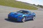 2016 Chevrolet Corvette Stingray Coupe in Laguna Blue Metallic Tintcoat - Driving Front Left Three-quarter View