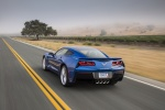 2016 Chevrolet Corvette Stingray Coupe in Laguna Blue Metallic Tintcoat - Driving Rear Left View