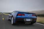2016 Chevrolet Corvette Stingray Coupe in Laguna Blue Metallic Tintcoat - Driving Rear View