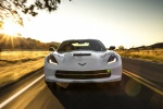 2016 Chevrolet Corvette Stingray Coupe in Arctic White - Driving Frontal View