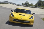 2016 Chevrolet Corvette Stingray Coupe in Corvette Racing Yellow Tintcoat - Driving Frontal View
