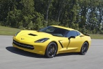 2016 Chevrolet Corvette Stingray Coupe in Corvette Racing Yellow Tintcoat - Driving Front Left Three-quarter View