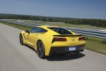 2016 Chevrolet Corvette Stingray Coupe in Corvette Racing Yellow Tintcoat - Driving Rear Left View