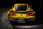 2016 Chevrolet Corvette Z06 Coupe in Corvette Racing Yellow Tintcoat - Static Rear View