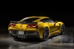 2016 Chevrolet Corvette Z06 Coupe in Corvette Racing Yellow Tintcoat - Static Rear Right View