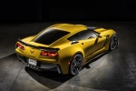 2016 Chevrolet Corvette Z06 Coupe in Corvette Racing Yellow Tintcoat - Static Rear Right Three-quarter View
