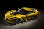 2016 Chevrolet Corvette Z06 Coupe in Corvette Racing Yellow Tintcoat - Static Front Left Three-quarter Top View