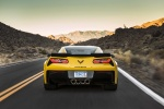 2016 Chevrolet Corvette Z06 Coupe in Corvette Racing Yellow Tintcoat - Driving Rear View