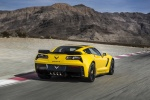 2016 Chevrolet Corvette Z06 Coupe in Corvette Racing Yellow Tintcoat - Driving Rear Right View