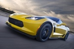 2016 Chevrolet Corvette Z06 Coupe in Corvette Racing Yellow Tintcoat - Driving Front Left Three-quarter View
