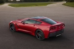 2016 Chevrolet Corvette Stingray Coupe in Torch Red - Static Rear Left Three-quarter Top View