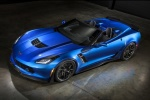 2016 Chevrolet Corvette Z06 Convertible in Laguna Blue Metallic Tintcoat - Static Front Left Three-quarter Top View