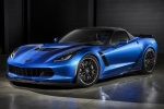 2016 Chevrolet Corvette Z06 Convertible with top closed in Laguna Blue Metallic Tintcoat - Static Front Left Three-quarter View