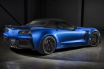2016 Chevrolet Corvette Z06 Convertible with top closed in Laguna Blue Metallic Tintcoat - Static Rear Right Three-quarter View