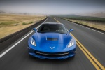2016 Chevrolet Corvette Stingray Coupe in Laguna Blue Metallic Tintcoat - Driving Frontal View
