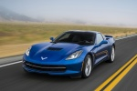 2016 Chevrolet Corvette Stingray Coupe in Laguna Blue Metallic Tintcoat - Driving Front Left View