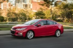 2017 Chevrolet Cruze Premier RS Sedan in Red Hot - Driving Front Left Three-quarter View