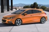 2018 Chevrolet Cruze Premier RS Hatchback in Orange Burst Metallic from a front left three-quarter view
