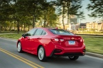 2018 Chevrolet Cruze Premier RS Sedan in Red Hot - Driving Rear Left Three-quarter View