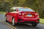 2018 Chevrolet Cruze Premier RS Sedan in Red Hot - Driving Rear Left View