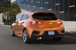 2018 Chevrolet Cruze Premier RS Hatchback in Orange Burst Metallic - Driving Rear Left View