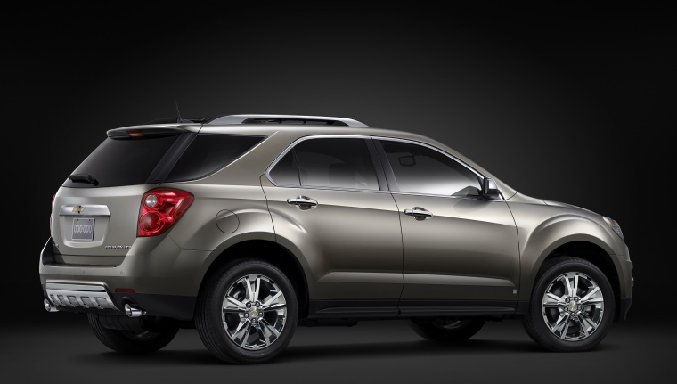2012 Chevrolet Equinox in Silver Ice Metallic from a rear right three-quarter view