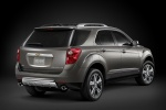 Picture of a 2014 Chevrolet Equinox in Silver Ice Metallic from a rear right perspective