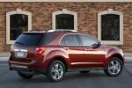Picture of a 2014 Chevrolet Equinox LTZ in Crystal Red Tintcoat from a rear right three-quarter perspective