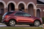 Picture of a 2014 Chevrolet Equinox LTZ in Crystal Red Tintcoat from a right side perspective