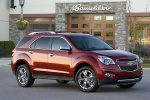 Picture of a 2014 Chevrolet Equinox LTZ in Crystal Red Tintcoat from a front right three-quarter perspective