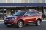 Picture of a 2014 Chevrolet Equinox LTZ in Crystal Red Tintcoat from a front left three-quarter perspective