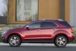 Picture of a 2014 Chevrolet Equinox LTZ in Crystal Red Tintcoat from a left side perspective