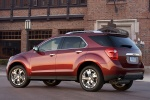 Picture of a 2014 Chevrolet Equinox LTZ in Crystal Red Tintcoat from a rear left three-quarter perspective