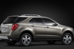 Picture of a 2014 Chevrolet Equinox in Silver Ice Metallic from a rear right three-quarter perspective