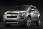 Picture of a 2014 Chevrolet Equinox in Silver Ice Metallic from a front left perspective